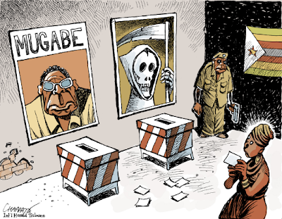 cartoon Zimbabwe par Chappatte