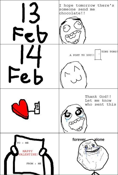 Forever Alone Valentines Quote Quote Number 582879 Picture Quotes
