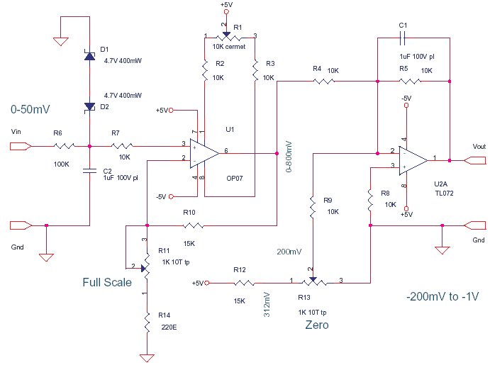 Ab C D Circuit Diagram Schematics Of Delabs Thermocouple Amplifier Standard