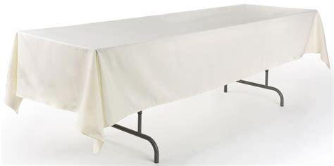 Rectangular Ivory Banquet Tablecloth   6' or 8' Tables