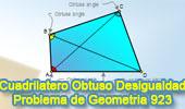Problema de Geometría 923 (English ESL): Cuadrilátero, Diagonal, Triangulo, Angulo Obtuso, Desigualdad