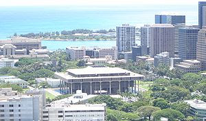 The Hawaii State Capitol.Picture taken from at...