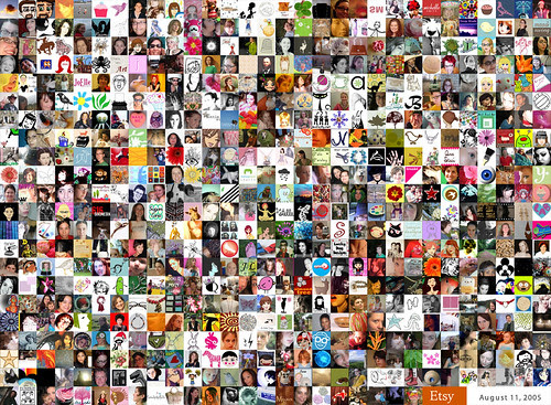 Etsy Visualization:  All Etsy Members with Avatars August 2005