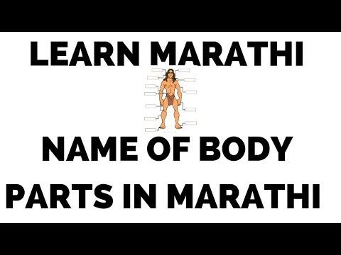 List of Body parts in Marathi