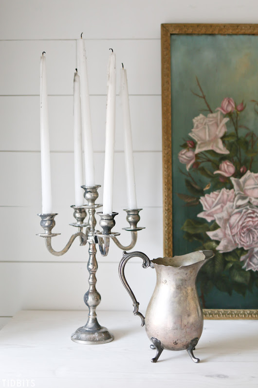 How to Age Metal | Vintage Patina on Candelabra - Tidbits