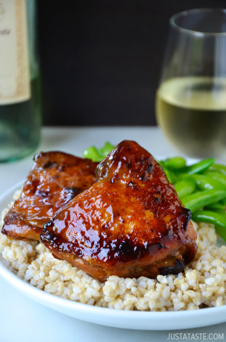 Honey Balsamic Baked Chicken Thighs Recipe | Just a Taste