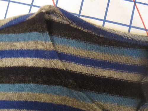 Twin Needle Stitching at Neckline