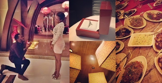 Former EFCC Twitter handler, F-shaw, proposes to his girlfriend (Photos)