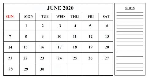Template Excel 2020 Printable Calendar Free