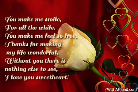 You Make Me Smile For All Love Message For Boyfriend