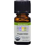 Aura Cacia Aromatherapy Organic Peppermint Essential Oil - 0.25 fl oz bottle