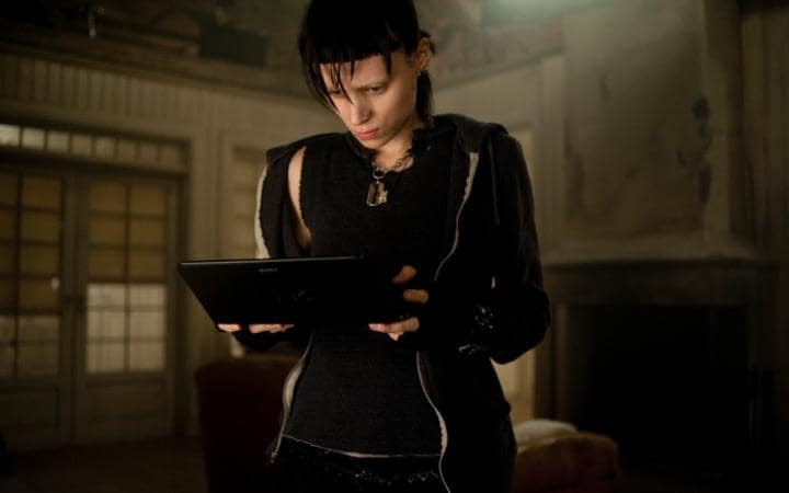 Rooney Mara as Lisbeth Salander in the 2011 US film adaptation of The Girl with the Dragon Tattoo