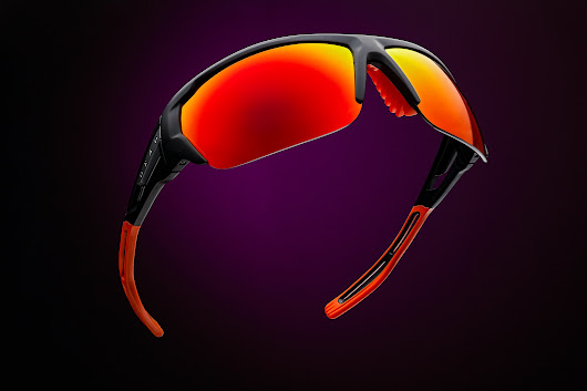 Commercial advertising photography for sport sunglasses