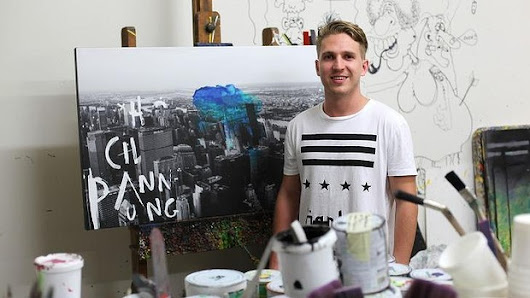Artist Jake Hart following in the family footsteps of David and Pro Hart