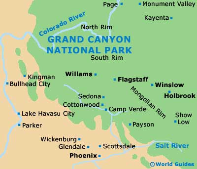 Maps Us Map Grand Canyon - Grand canyon us map