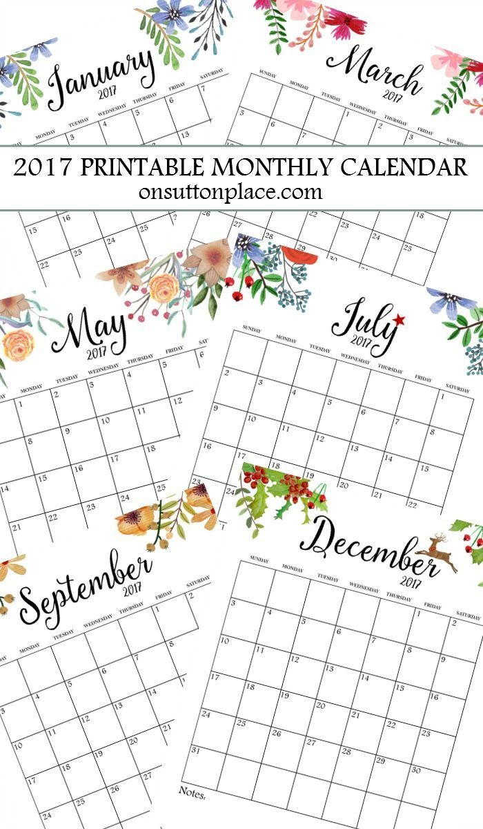 1000+ ideas about Monthly Calendars on Pinterest   Planner pages ...