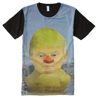Donald Trump Rubber Yellow Duck Mens Panel T-Shirt