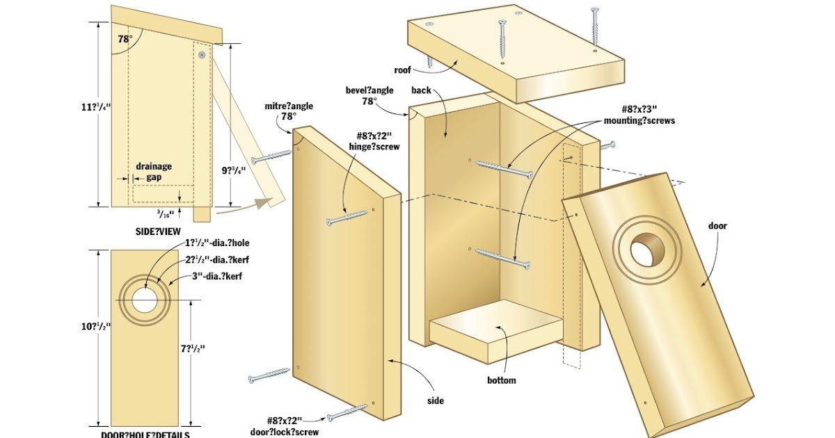 Wood Working Idea Instant Get Bird House Plans For House