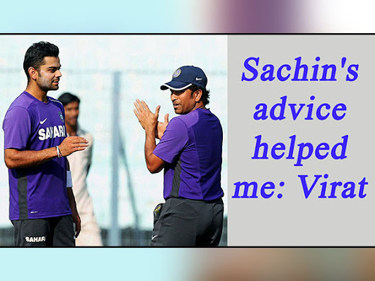 Virat Kohli reveals how Sachin Tendulkar's 'best advice' helped him - Oneindia