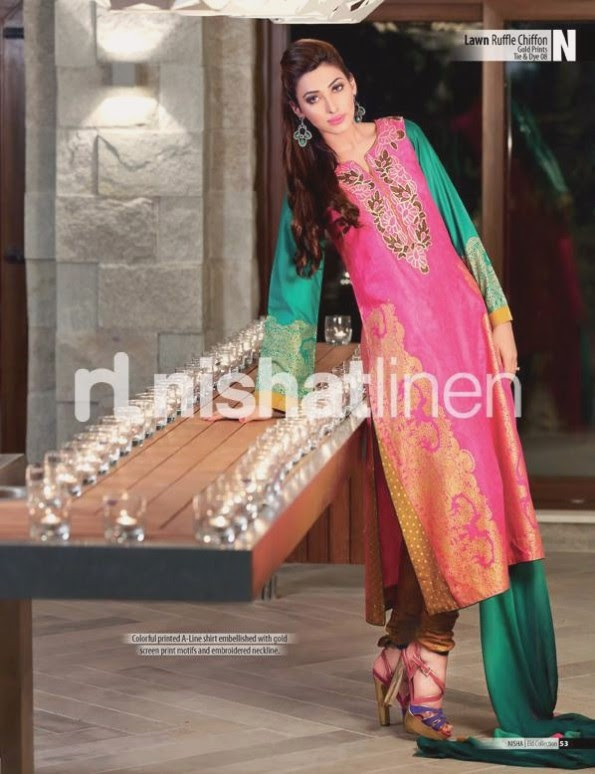 Nishat-Linen-Eid-Dress-Collection-2013-Pret-Ready-to-Wear -Lawn-Ruffle-Chiffon-for-Girls-Womens-4
