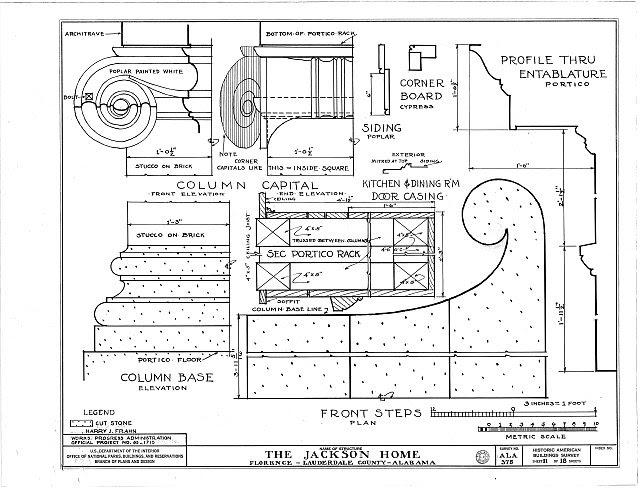 HABS ALA,39-FLO.V,3- (sheet 11 of 18) - Forks of Cypress, Savannah Road (Jackson Road), Florence, Lauderdale County, AL