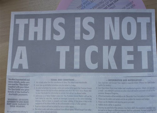 this is not a ticket
