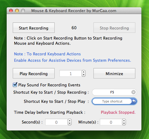 Macro Recorder for Macintosh