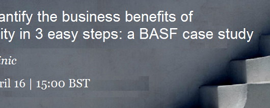 How to quantify the business benefits of sustainability in 3 easy steps: a BASF case study