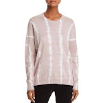 ATM Womens Knit Tie-Dye Pullover Sweater Pink