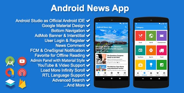 CodeCanyon - Android News App v3.2.0