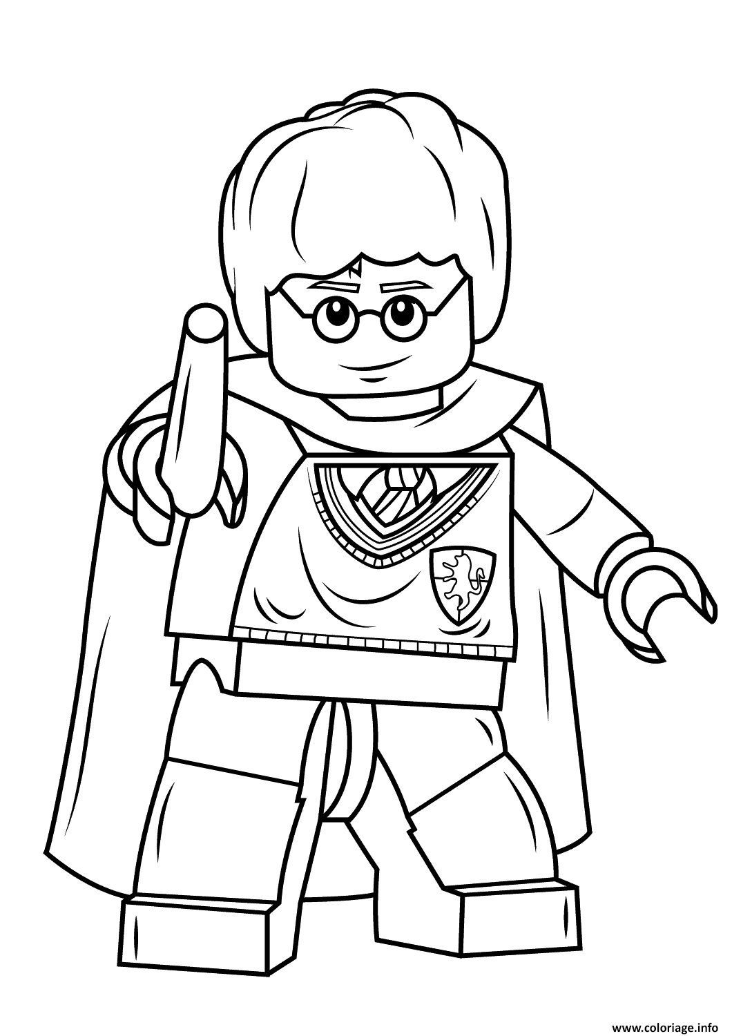 Coloriage Lego Harry Potter With Wand Harry Potter Jecoloriecom