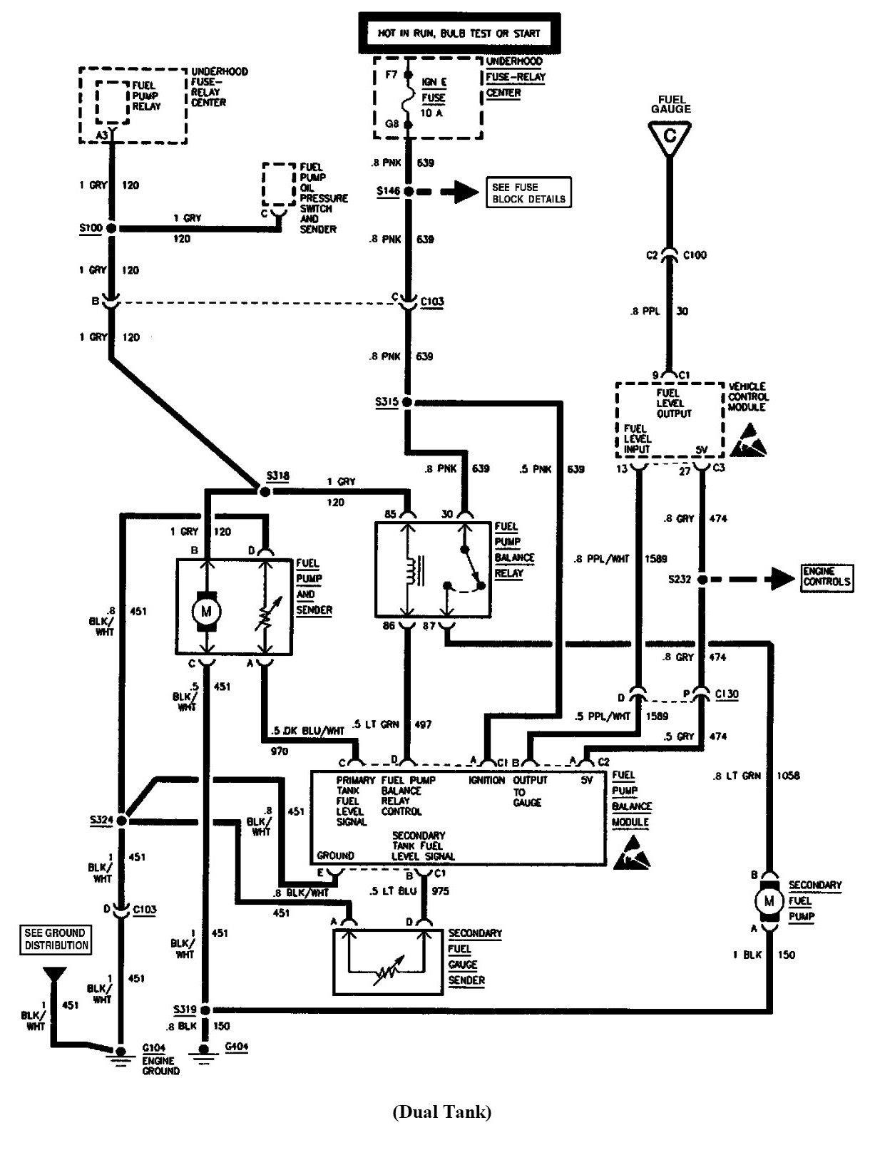 Whereis the fuel pump relay on my 1998 GMC sierra 4WD?