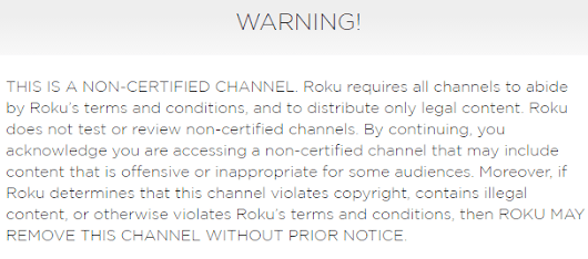 Roku Gets Tough on Pirate Channels, Warns Users - TorrentFreak
