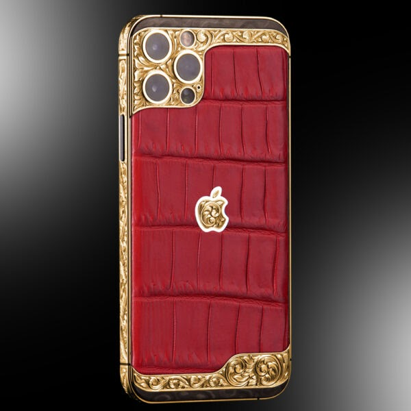 Stuart Hughes 24CT Gold & Onyx iPhone 12 Pro Vintage Edition