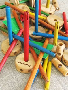 Tinker Toys. -- Hours and                   hours of fun with these!
