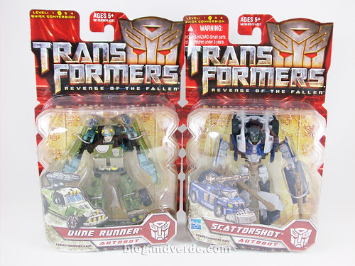 Transformers Dune Runner + Scattorshot RotF Scout - caja