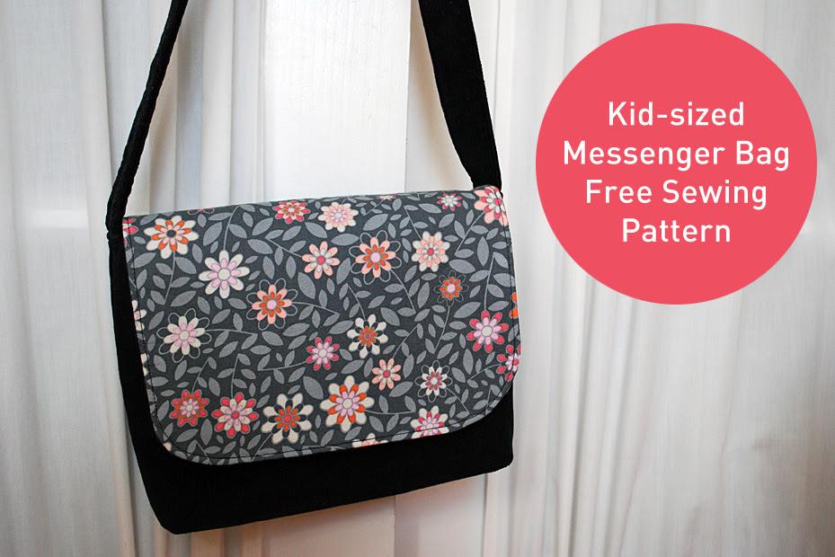 Kid messenger bag free pattern and sewing tutorial