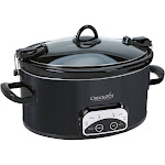 Crock-Pot Programmable Slow Cooker - Black - 6 qt