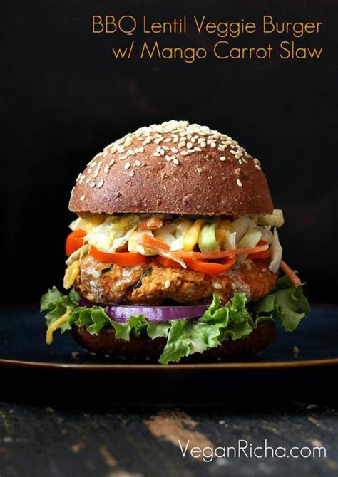 Foodista   Red Lentil Burger and Other Vegetarian Burgers