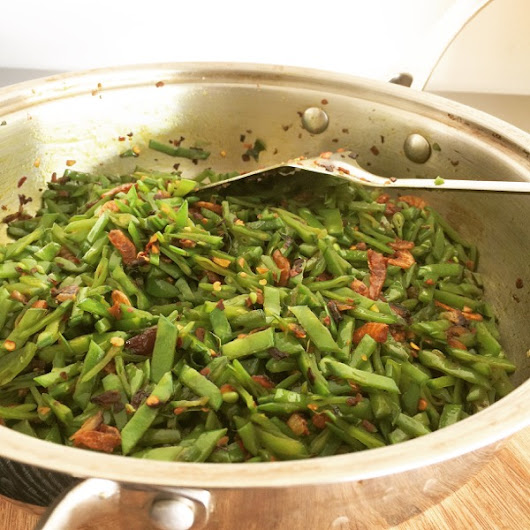 Stir Fried Sugar Snap Peas with Dried Shrimp - Suby's Kitchen