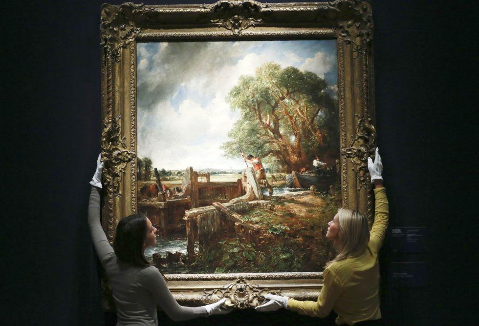 'La esclusa', de Constable, antes de ser vendida en Christie's de Londres en 2012.