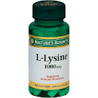 Natures Bounty L-Lysine, 1000 mg, Coated Tablets - 60 tablets