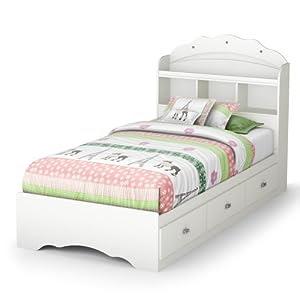 Amazon.com - Tiara Twin Mate's Bed & Bookcase Headboard ...