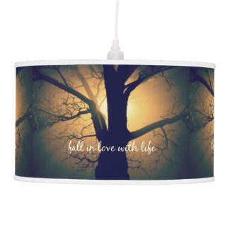 Inspirational Fall in Love with Life Quote Lamps