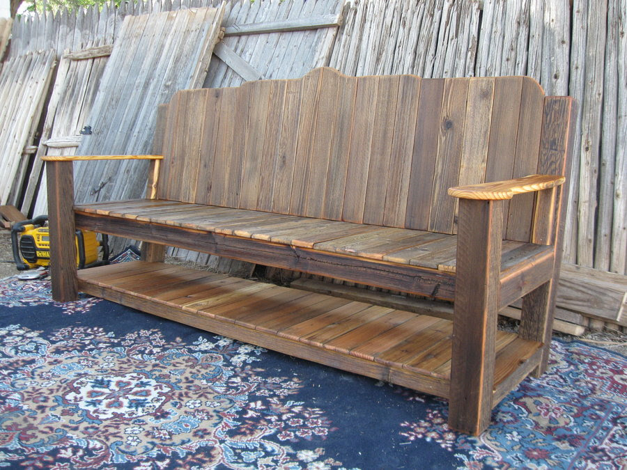 Reused Picket Fence6rustic Garden Bench And Miscellaneous Routed