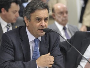 O presidente do PSDB e senador Aécio Neves (MG) durante  sessão na CCJ (Foto: Geraldo Magela/Ag.Senado)