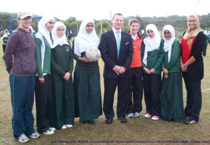Shinpads and Hijabs Launch with Graham Perrett MP