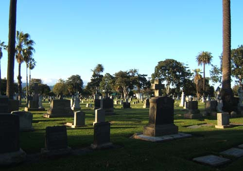 woodlawn cemetery, santa monica, valentine's day