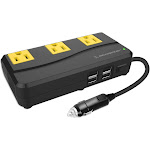 Scosche 200W Portable Power Inverter with 4 USB ports Black