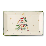Merry & pine rectangular platter by lenox